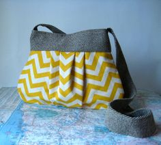 San Diego crossbody purse // chevron purse by atlaspast on Etsy, $48.00