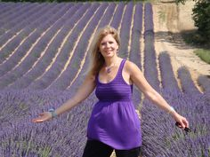 Pam Conrad RN Aromatherapist visiting the lavender in France