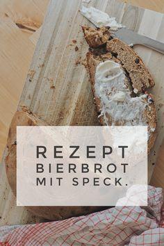 Einfaches Rezept für selbstgemachtes Bierbrot mit Speck Feta, Dairy, Bread, Cheese, Diy Home Crafts, Bread Baking, Simple, Recipies, Brot