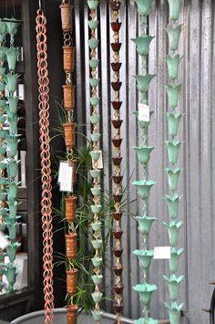 rain chains at Molbak's garden store