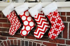 Christmas Stockings in Lipstick Red