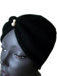 Turban Hand Knitted 1920s 1930s Downton by thekittensmittensuk, £15.00