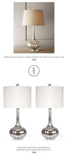 @neimanmarcus Regina Andrew Design Antiqued Glass Table Lamp $275 Vs @overstock Abbyson Living Mercury  Antiqued Glass Table Lamps (Set Of 2) $162