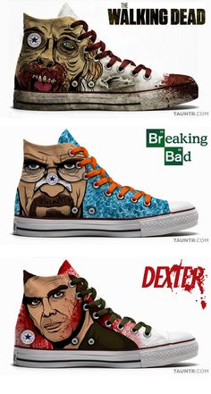 Pop Culture Chuck Taylor All Stars- all amazing shows!