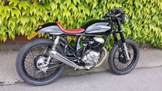 Honda painted in gloss black by Complete Cafe Racer Moto Bike, Cafe Racer Motorcycle, Cafe Racer Build, Cafe Racers, Custom Bikes, Honda, Motorcycles, Concept, Black