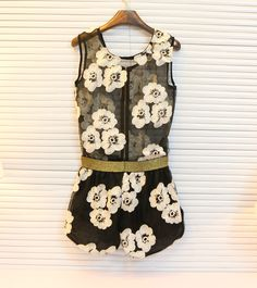 embroidered flowers vest jacket  - http://zzkko.com/n145358-ndy-upscale-home-sweet-perspective-organza-embroidered-flowers-vest-jacket- -shorts-suit-F41-2- $9.83