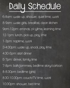 Mom Life: The Daily Schedule Experiment