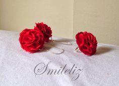 Rojo ... pasión Stud Earrings, Jewelry, Jewlery, Bijoux, Studs, Schmuck, Stud Earring, Jewerly, Jewels