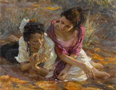 """Rene Snyman """"Their Whole Lives""""  Oil on Canvas  40 x 31 inches"""