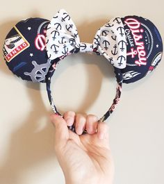 Disney Cruise Line Mouse Ears by PixieDustedBows on Etsy https://www.etsy.com/listing/269559024/disney-cruise-line-mouse-ears