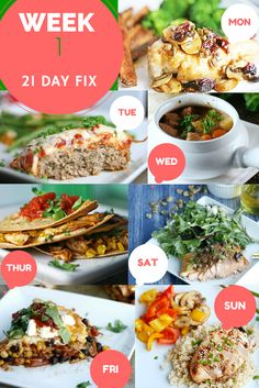 21 Day Fix Super Woman Slim Down Dinner Menu - What do you think??? #DitchTheDiet - This is Real Food, Balanced Nutrition & Good Clean Eats Mon - Maple Cranberry Chicken Tue - Chicken Parmesan Meatloaf Wed - Healthy Beef Stew Thurs - BBQ Chicken Quesadilla Fri - Mexican Lasagna Sat - Honey and Walnut Glazed Salmon Sun - Grilled Orange Teriyaki Chicken