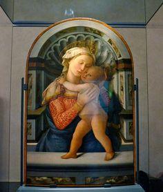 Medici Riccardi Palace - Florence. Fra Filippo Lippi. Madonna with Child - c. 1460