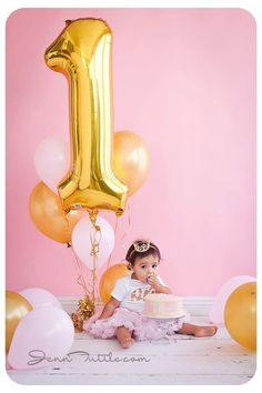 1st birthday gold and pink:
