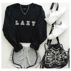 Cute Fashion Outfits for Teens worth Copying - Teenage Outfits, Teen Fashion Outfits, Mode Outfits, Short Outfits, Trendy Outfits, Cute Lazy Day Outfits, Teenage Clothing, Lazy Fashion, Lazy Day Outfits For School