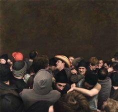 O Hiperrealismo nas pinturas de multidão de Dan Witz