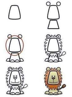 Dibujo fácilmente un león