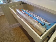 Gift wrap drawer!  I Polish & Patina