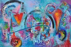 Loslaten /Releave, schilderij van Kunstenares Mir, Mirthe Kolkman   Abstract   Modern   Kunst
