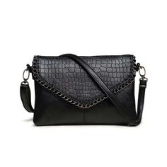 Cheap Shoulder Bags, Buy Directly from China Suppliers:Fashion Small Bag Women Messenger Bags Soft PU Leather Handbags Crossbody Bag For Women Clutches Bolsas Femininas Dollar Price Black Leather Handbags, Leather Purses, Pu Leather, Leather Satchel, Leather Chain, Leather Fashion, Vegan Leather, Small Shoulder Bag, Leather Shoulder Bag