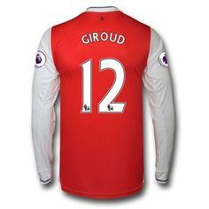 Arsenal 16-17 Olivier Giroud 12 Hjemmebanetrøje Langærmet.  http://www.fodboldsports.com/arsenal-16-17-olivier-giroud-12-hjemmebanetroje-langermet.  #fodboldtrøjer