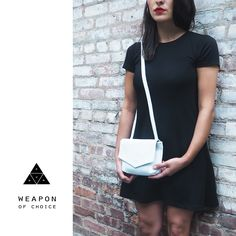 Weapon of choice   Mini Gun Bag   Taking orders on this white textured leather now !  #Limited #edition   PM for more details