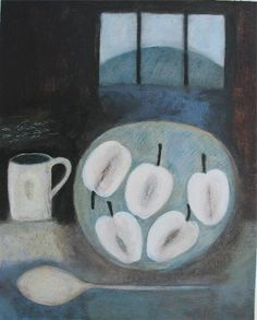 Still Life with Apples and Hillside, (2007) by Vivienne Williams