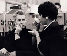Herbert von Karajan and Leontyne Price