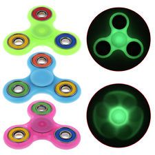 Tri-Spinner Fidget Toy Luminous EDC Hand Spinner Anxiety Stress Relief Toys~