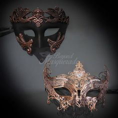 Couple's Masquerade Masks for Women and Men. Couple's masquerade masks for masquerade ball party masks. Masquerade Party Outfit, Couples Masquerade Masks, Gold Masquerade Mask, Masquerade Wedding, Venetian Masquerade, Venetian Masks, Masquerade Dresses, Mardi Gras, Female Mask