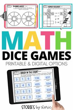 Kids love to play dice games! Add these math activities to your centers, math rotations, or fast finishers bin to boost engagement. There is also a digital option for Google Slides so students can play the games in the classroom or at home.