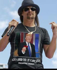 Sex on a stick. Cupcake Liberals this ones for you, courtesy of Kid Rock! I Love America, God Bless America, Kid Rock Picture, Trump We, Trump Is My President, Greatest Presidents, American Pride, We The People, Country Music