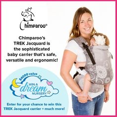 Hey babywearing Mamas (and Mamas-to-be)! If you're looking for a sophisticated beautiful baby carrier this is for you! Really comfortable and versatile the Chimparoo TREK in jacquard from the Design Collection allows you to carry your infant with style! This baby carrier is one of the amazing prizes in our Win A Dream Nursery  Baby Essentials giveaway going on now! Click on link in bio to enter. #ad  The promotion is open to Canadian residents age 18 and is in no way sponsored endorsed or…
