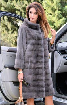 mink furs - new 2016 graphite royal saga mink fur coat