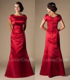 Cheap Red Mermaid Satin Long Formal Full Length Temple Modest Bridesmaid Dresses With Cap Sleeves Winter Bridesmaids Dresses Short Purple Bridesmaid Dresses Strapless Bridesmaid Dresses From Helen_fontaine, $130.21| Dhgate.Com