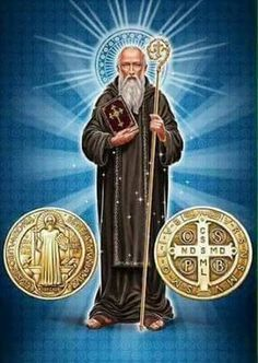 Pray and work! Thanks to we have this post about Saint Benedict and his medal! Catholic Doctrine, Catholic Prayers, Catholic Saints, Roman Catholic, Christianity, Catholic Religion, Religious Pictures, Jesus Pictures, Religious Art