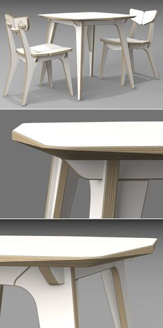 TETRA  TABLE (HPL) / CNC ROUTER  /  3D DESIGN / 유창석   www.joinxstudio.com