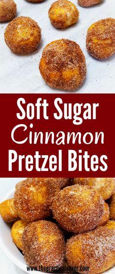 soft sugar cinnamon pretzel bites l quick easy dessert recipes l yummy food desserts l best pretzel recipes l best dessert recipes ever