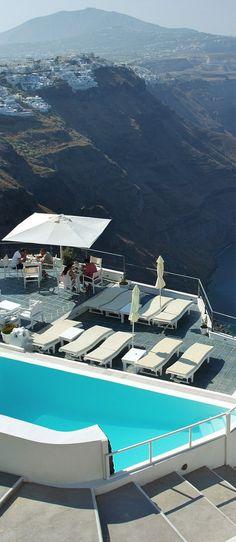 Pool in Santorini