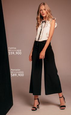 Casual Chic, Satin, Glamour, Palace, Fashion, Black Palazzo Pants, Flowy Pants, Black Trousers, Crisp White Shirt