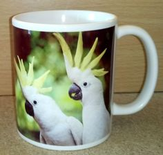 Yellow-crested Cockatoo Coffee Mug Cockatoo, Parrot, Coffee Mugs, Yellow, Tableware, Gifts, Parrot Bird, Dinnerware, Presents