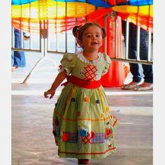 Vestido Festa Junina Infantil.