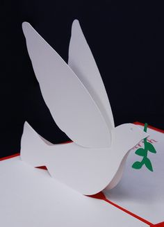 Peace Dove Pop-Up Christmas Card by PeadenScottDesigns on Etsy 3d Cards, Pop Up Cards, Xmas Cards, Kirigami, Origami Paloma, Libros Pop-up, Bible Crafts For Kids, Paper Pop, Peace Dove