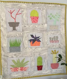 Cacti and Succulent Quilt Pattern Set; 9 blocks | Craftsy