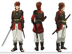 Character design by Shingo Adachi for the Sword Art Online anime. Klein's character design for the Ordinal Scale movie. Sword Art Online Asuna, Sword Art Online Cosplay, Tv Anime, Anime Plus, Kunst Online, Online Art, Chun Li, Character Model Sheet, Character Design