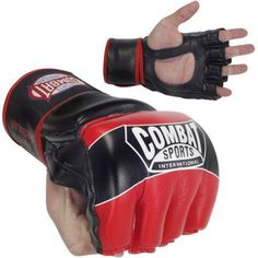 Combat Sports Pro Style MMA Gloves, Red