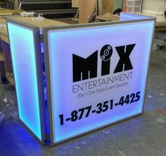 DJ Facade for Mix Entertainment! The Lighted DJ facade can be viewed at www.BarChefs.com