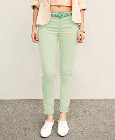 Forever 21 | Ментолові брюки-дудочки | 291 грн.