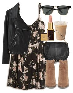 """Untitled #5624"" by laurenmboot ❤ liked on Polyvore featuring Tom Ford, MANGO, Steve Madden, Acne Studios and Ray-Ban"