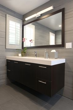 #bathroom #guest #vanity #mirror #design #archinteriors #sconce #lighting #tub