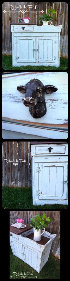 Vintage dry sink done by Rehab to Fab in Olde Barn Milk Paint, Stoneware. Milk Paint Furniture, Annie Sloan Painted Furniture, Annie Sloan Paints, Painting Furniture, Furniture Design, Vintage Farmhouse, Farmhouse Decor, Modern Farmhouse, Farmhouse Style